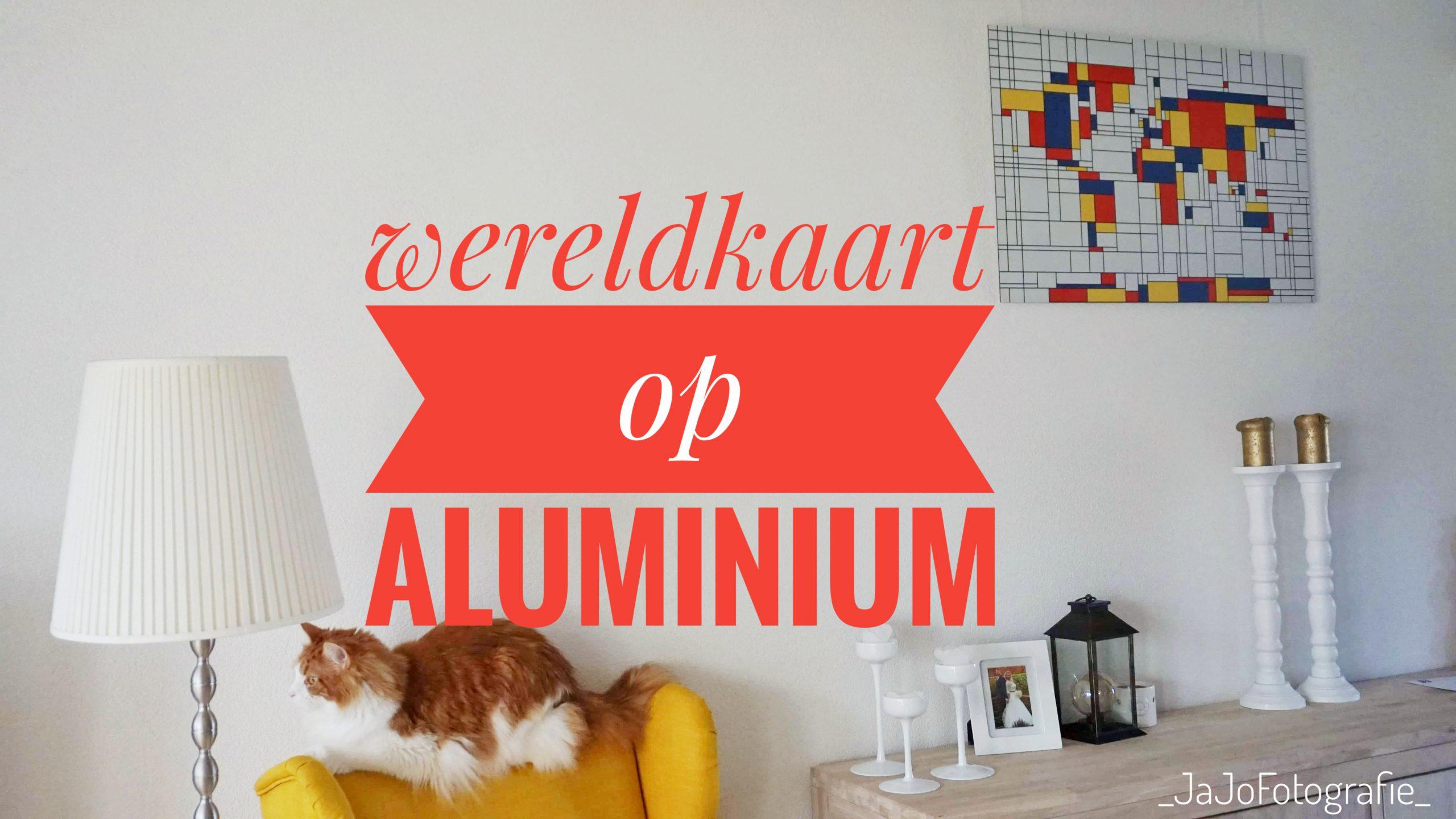 Wereldkaart op Aluminium