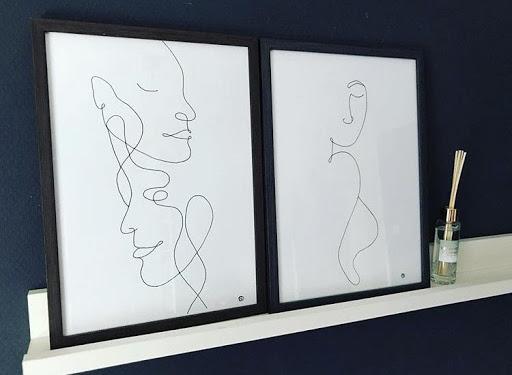 Lineart tekeningen van Sandra. Zij heeft haar verwaterde hobby weer opgepakt