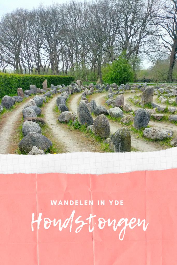 Door te wandelen in Yde kom je langs dit labyrint. Het is een monument gemaakt door Derk den Boer.